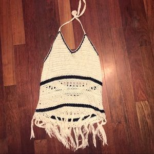 Anthropology Crochet Halter Top